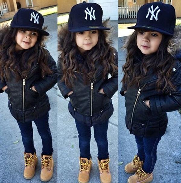 Gợi ý những bộ đồ mùa đông cực chất dành cho bé gái - 2