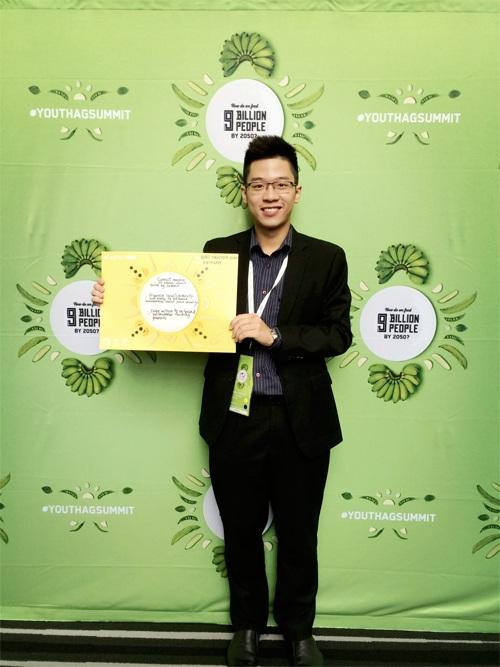 Nguyễn Vĩnh Bảo, sinh viên ĐH RMIT Hà Nội, đại diện Việt Nam tham dự hội nghị Thanh niên về nông nghiệp toàn cầu tại Úc năm 2015