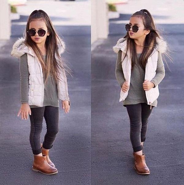 Gợi ý những bộ đồ mùa đông cực chất dành cho bé gái - 10