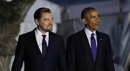 Nam tài tử đã trò chuyện vui vẻ cùng Tổng thống Barack Obama
