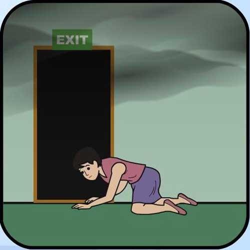 Cách di chuyển đúng để tránh hít phải khói