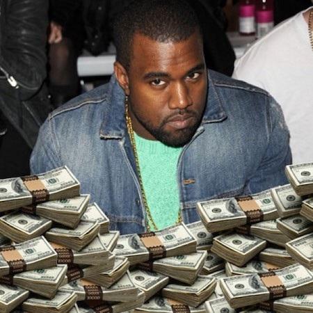 Tiền là thứ mà Kayne West chưa bao giờ tiếc