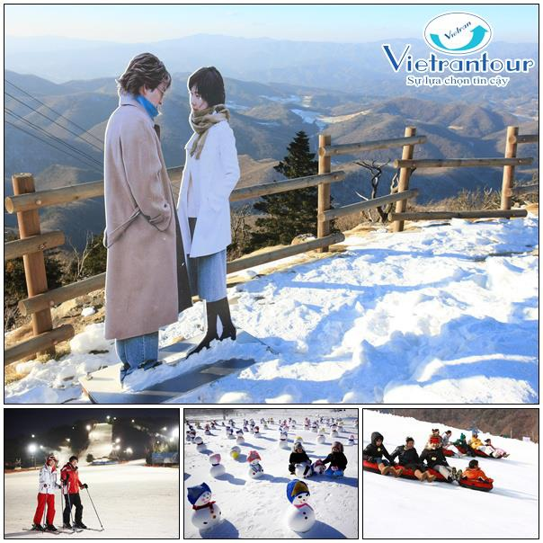 """Trong khi đó, Yongpyong thu hút lượng lớn du khách nhờ là bối cảnh của bộ phim đình đám một thời """"Bản tình ca mùa đông"""""""
