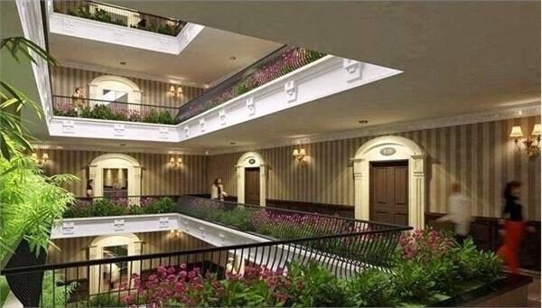 Vườn treo thông tầng xanh mát trong chung cư CT4 Vimeco