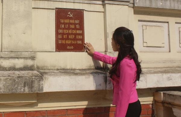 Dinh thự số 38 Lý Thái Tổ (Hà Nội), nơi diễn ra lễ ký kết Hiệp định sơ bộ 6-3-1946. (Ảnh chụp ngày 9-12-2016)