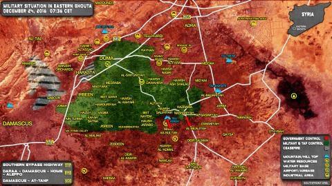 Tình hình chiến trường ở Đông Ghouta.