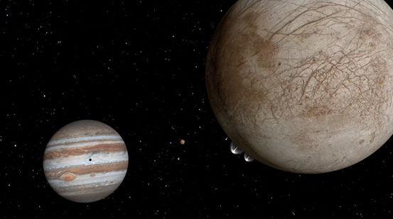 Từ lâu, các nhà khoa học đã nghi ngờ rằng có các chùm nước hiện diện trên mặt trăng Europa của sao Mộc. Đến nay, các hình ảnh mới được tiết lộ đã cung cấp những bằng chứng thuyết phục nhất về điều này, và nó là dấu hiệu tồn tại của một đại dương nằm bên dưới bề mặt.