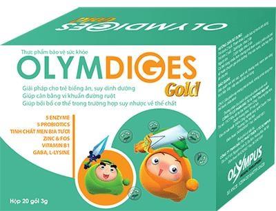 Thực phẩm chức năng OLYMDIGES GOLD được cấu tạo từ các thành phần: 5 enzymes (Protease, Amylase, Lactase, Cellulase, Lipase), 5 chủng vi khuẩn có ích cho đường ruột (Lactobacilus acidophilus, BB12 bifidobacterium, Streptococcus thermophilus, Lactobacilus debprueckii ssp, bulgaricus, Lactobacilus paracasei), FOS – chất xơ, tinh chất men bia tươi, L-lysine, Gamma-aminobutyric acid (GABA, Penta-cap powder) , kẽm gluconate, vitamin B1.