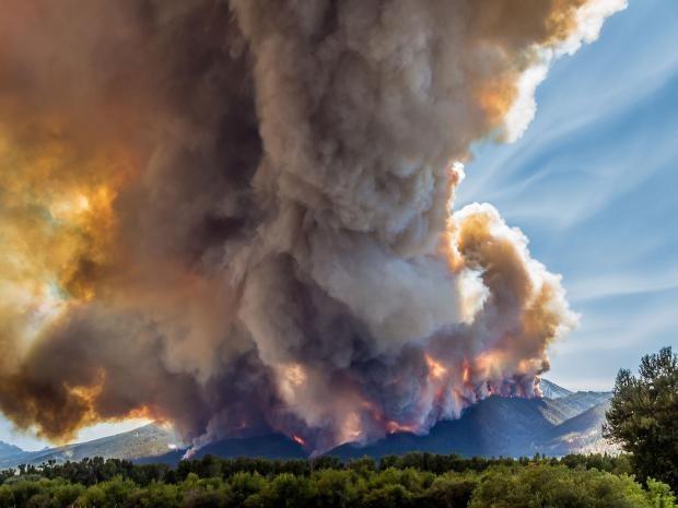 """Trận cháy rừng """"Roaring Lion"""" đã phá hủy hơn 60 ngôi nhà và các tòa nhà khác cùng với hơn 8.000 ha rừng ở dãy núi Bitterroot của Montana trong tháng 7 và 8 (Ảnh: Mike Daniels)"""