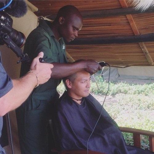 Phan Anh đã quyết định xuống tóc để kêu gọi cộng đồng chung tay bảo vệ tê giác.