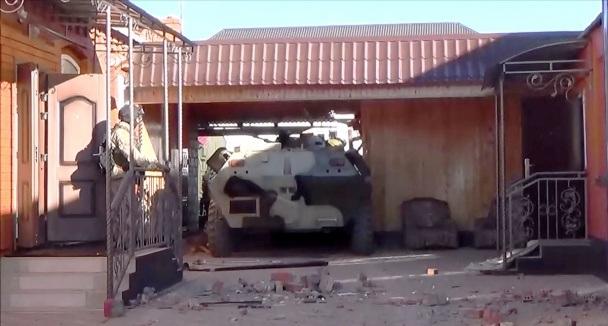 FSB tấn công nhà riêng của những tên khủng bố ở Ingushetia (Ảnh: FSB)