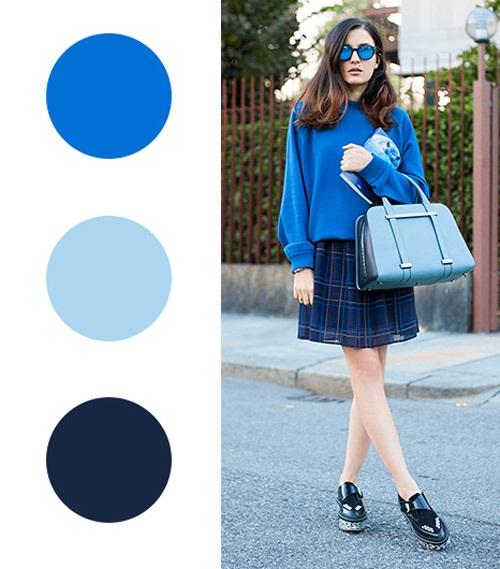 Một set đồ hoàn hảo với các sắc xanh thế này có biến bạn thành một fashion icon đúng nghĩa..