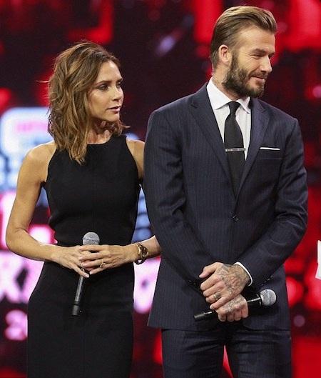 Vợ chồng David Beckham cực kì đẹp đôi trên sân khấu