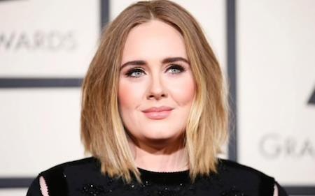 Adele đứng vị trí thứ ba trong bảng xếp hạng