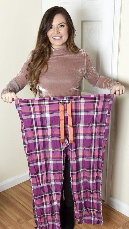 Người phụ nữ giảm gần một nửa số cân so với ban đầu