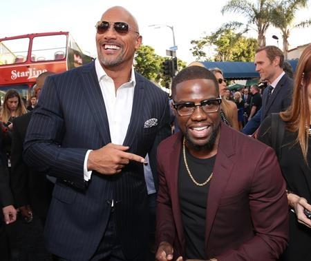 """Dwayne Johnson và Kevin Hart đã có một màn """"tung hứng"""" vô cùng hoàn hảo trong dự án điện ảnh hài """"Central intelligence"""" và ở ngoài đời, hai ngôi sao cũng là những chiến hữu thân thiết của nhau. Sang năm 2017, Dwayne và Kevin sẽ lại tiếp tục """"song kiếm hợp bích"""" trong dự án mới mang tên """"Jumanji""""."""