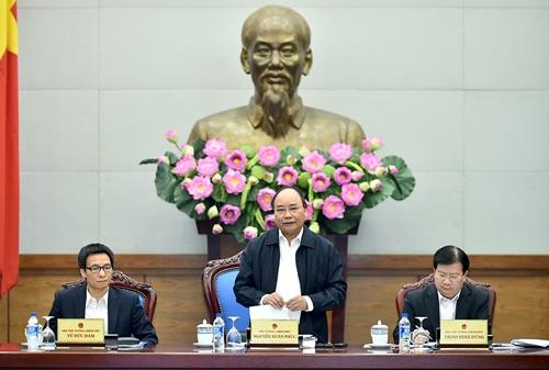 Thủ tướng phát biểu kết luận hội nghị.