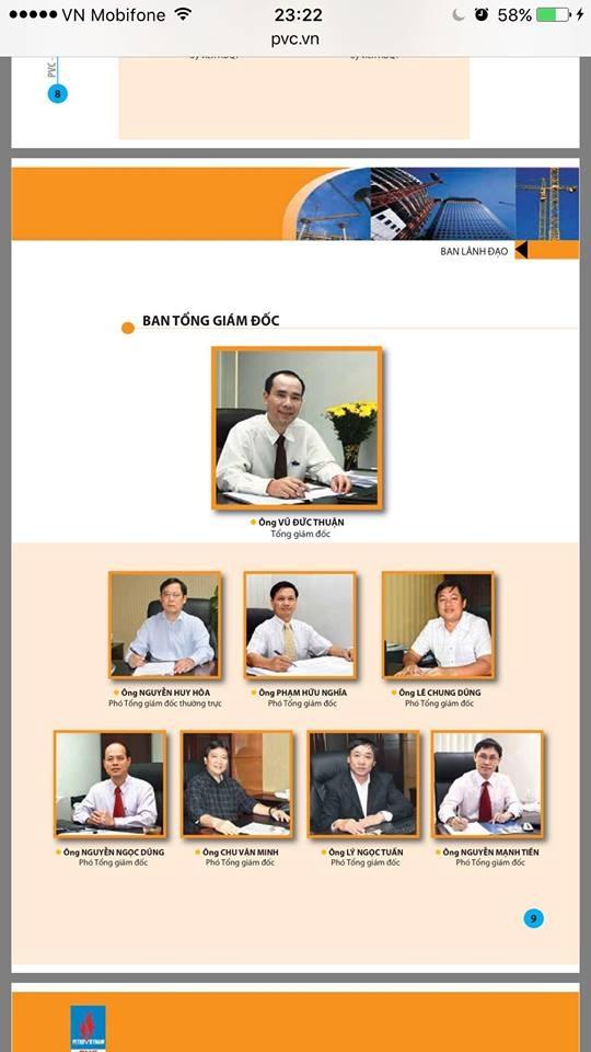 Ông Lê Chung Dũng, nguyên là Phó Tổng giám đốc PVC dưới thời ông Vũ Đức Thuận (đã bị khởi tố, bắt tạm giam)