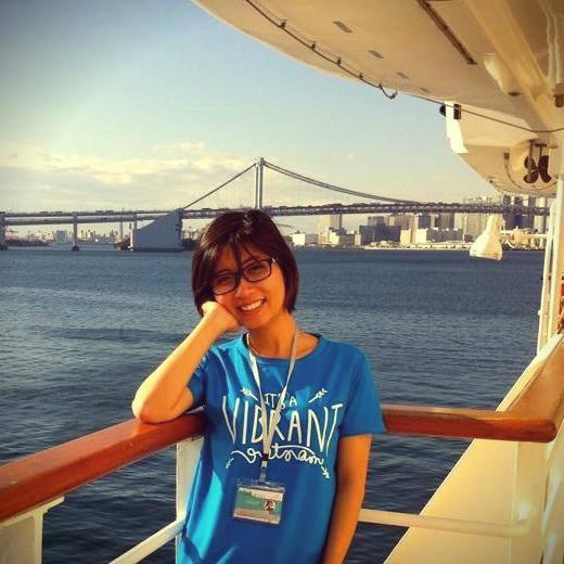 Chị Phạm Thủy Tiên trong chương trình giao lưu văn hóa thanh niên ASEAN - Nhật Bản (SSEAYP 2014)