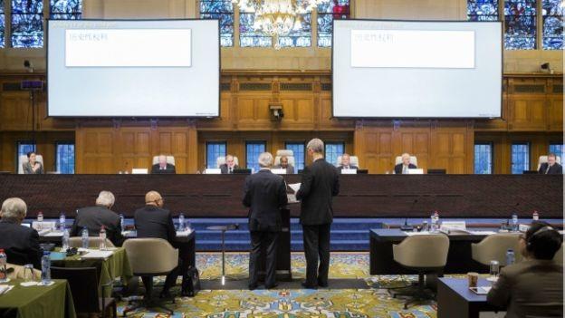 Một phiên tranh tụng của Tòa trọng tài theo Phụ lục VII. (Ảnh: PCA)