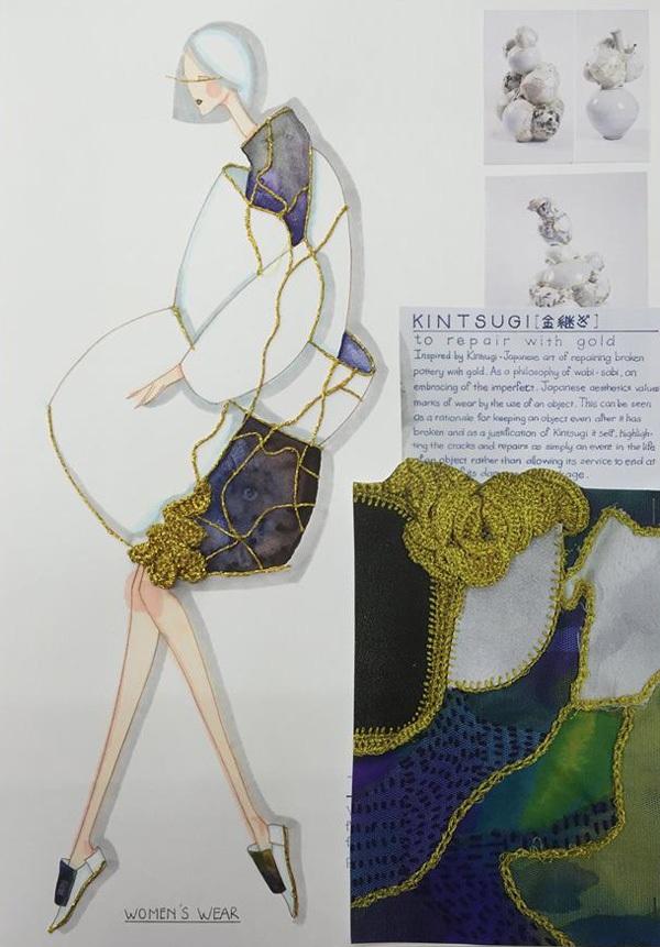 Một số hình ảnh về bản phác thảo sản phẩm dự thi của Cẩm Tú.