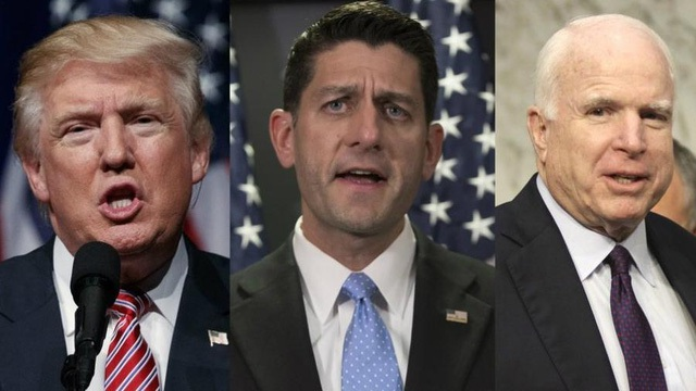 Các nghị sĩ Cộng hòa đồng loạt rút lại sự ủng hộ Trump. (Ảnh: Getty)