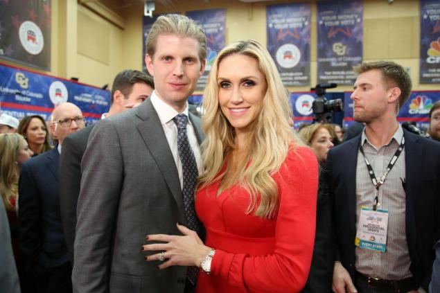 Lara Trump và chồng. (Ảnh: Getty)