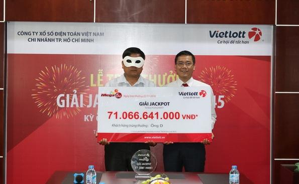 Trị giá giải đặc biệt 71 tỷ đồng được trao cho một khách hàng tên D. quê Quảng Ngãi, hiện đang ở và làm việc tại TPHCM