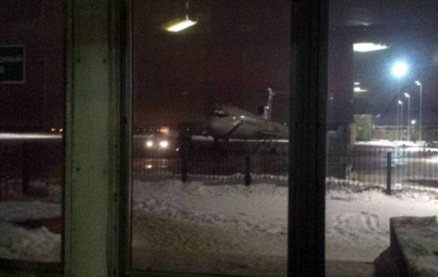 Bức ảnh cuối cùng của chiếc T-154 xấu số trước khi nó gặp nạn. Nhà quay phim Evgeny Tolstov của kênh truyền hình NTV (Nga) đã đăng tải bức ảnh lên mạng.