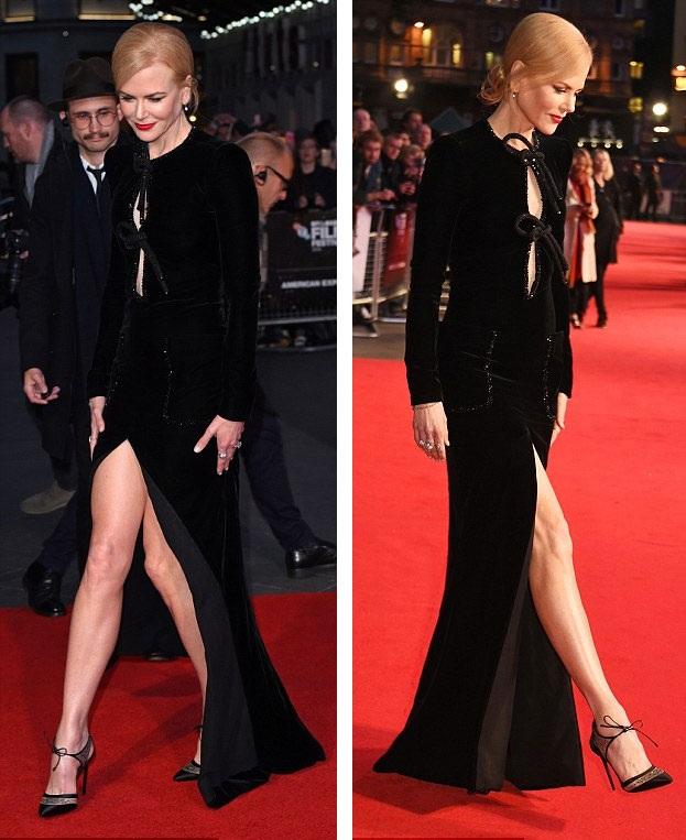 Nicole Kidman loay hoay giữ váy vì gió to - 2
