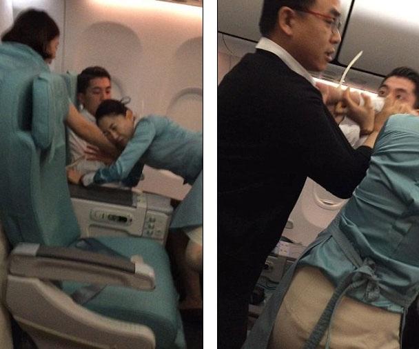Một người đàn ông quá khích đã tấn công tiếp viên cũng như hành khách khác trên chuyến bay từ Hà Nội tới Seoul, Hàn Quốc.