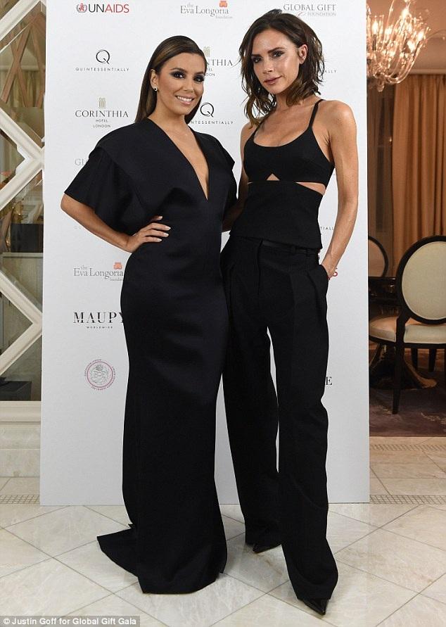 Victoria Beckham và bạn thân Eva Longoria sánh đôi dự sự kiện từ thiện tại London ngày 19/11 vừa qua