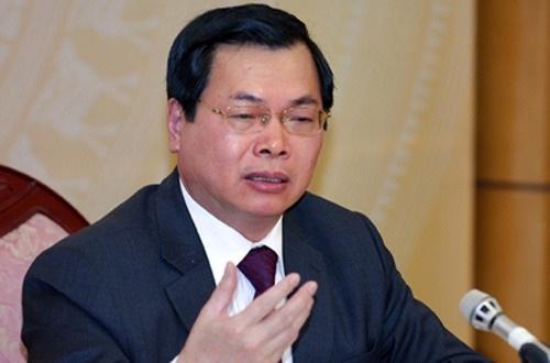 Ông Vũ Huy Hoàng bị cách chức Bí thư Ban cán sự Đảng bộ Công Thương.