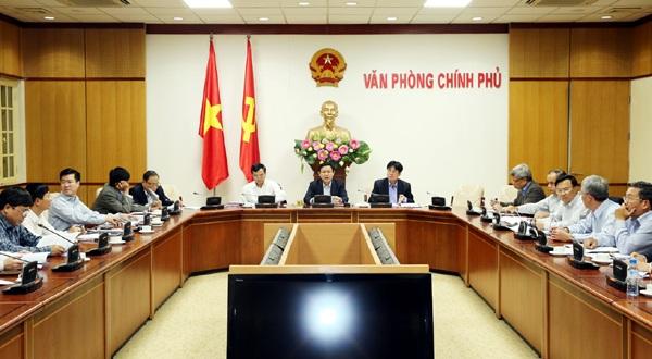 Phó Thủ tướng Vương Đình Huệ yêu cầu phấn đấu tới hết năm 2018 cơ bản xử lý xong các dự án, doanh nghiệp này. - Ảnh: VGP/Thành Chung