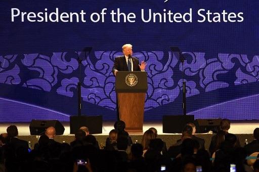 Hoa Kỳ luôn tự hào là một thành viên của cộng đồng các quốc gia đang tạo dựng một ngôi nhà chung ở Thái Bình Dương, Tổng thống Mỹ nói (Ảnh: Reuter)