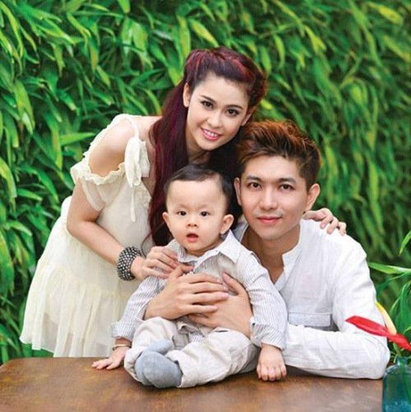 Vợ chồng Trương Quỳnh Anh - Tim và con trai