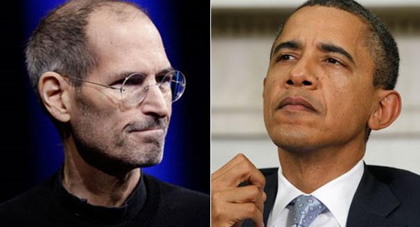 Trong quá khứ, ông Obama từng có mối quan hệ tốt với Steve Jobs.
