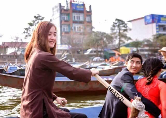 Bức ảnh chụp Trang được chia sẻ rầm rộ trên mạng