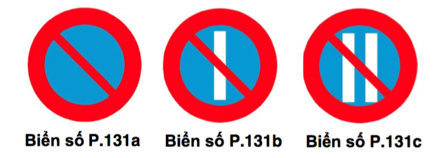 Biển cấm đỗ xe, biển cấm đỗ xe vào ngày lẻ P.131b, biển cấm đố xe vào ngày chẵn P.131c