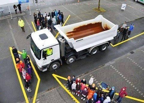 Những vùng điểm mù dễ gặp tai nạn mà gương chiếu hậu không hỗ trợ tài xế xe lớn quan sát hết
