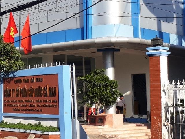 Công ty Cổ phần Cấp nước Cà Mau- nơi có hơn trăm người lao động bị cho nghỉ việc sai quy định.