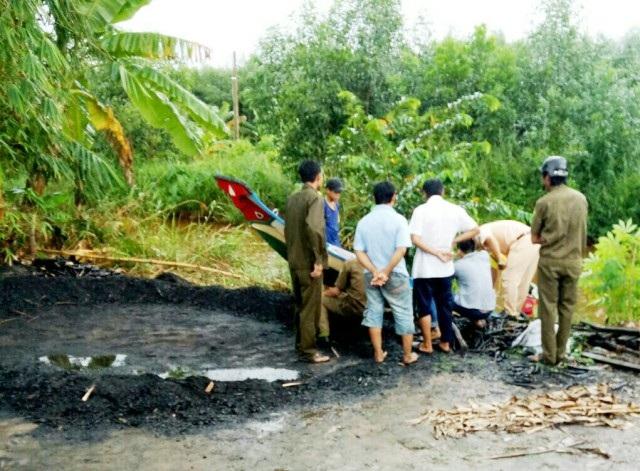 Hiện trường, nơi xảy ra vụ tai nạn giao thông đường thủy khiến một người chết.