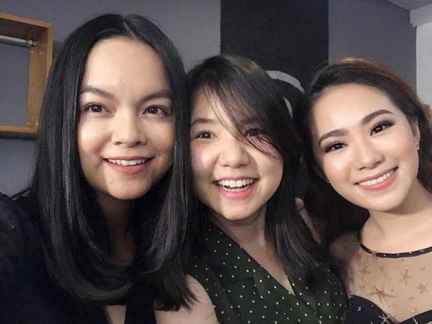 Các thành viên nhóm H.A.T: Phạm Quỳnh Anh, Ngô Quỳnh Anh, Lương Bích Hữu vừa hội ngộ cùng nhau.
