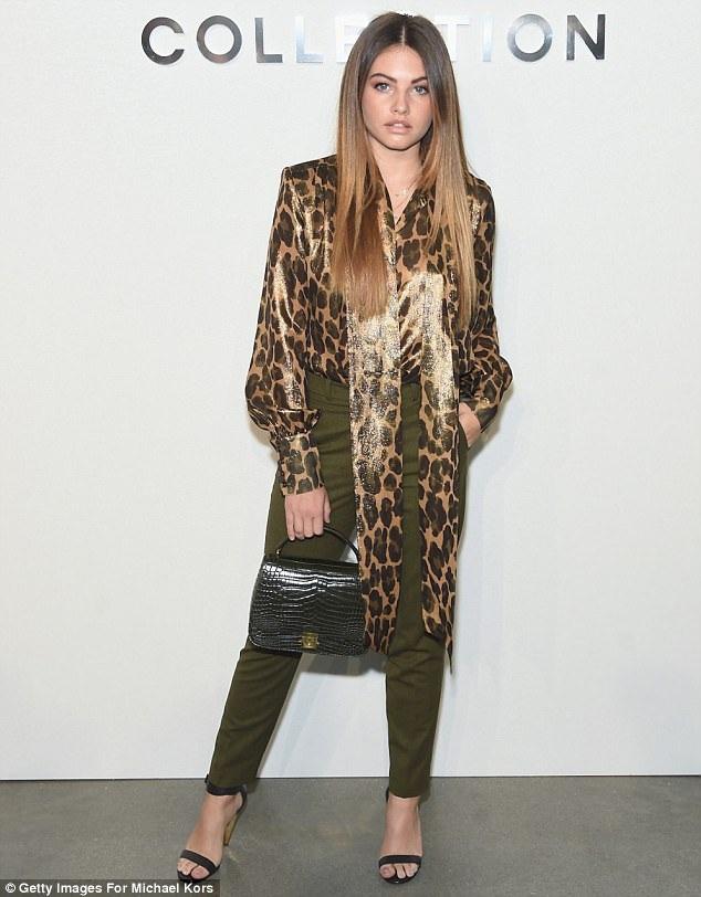 Tại Tuần lễ Thời trang New York vừa diễn ra, Thylane Blondeau nhận được lời mời tới xem các show thời trang đình đám nhất, cô xuất hiện ở hàng ghế đầu tiên. Đây là lần đầu tiên Thylane góp mặt tại New York Fashion Week, dù là trong vai trò khách mời.