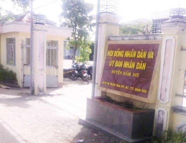 UBND huyện Đầm Dơi, nơi ông Lê Minh Trung từng làm cán bộ tiếp công dân.