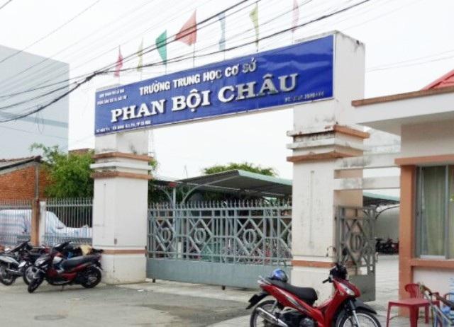 Trường THCS Phan Bội Châu (TP Cà Mau), nơi có nhiều khoản thu, chi sai quy định.