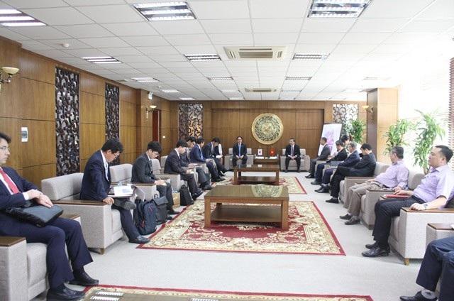 Toàn cảnh buổi tiếp Bộ trưởng Bộ Khoa học – CNTT và Truyền thông Hàn Quốc.