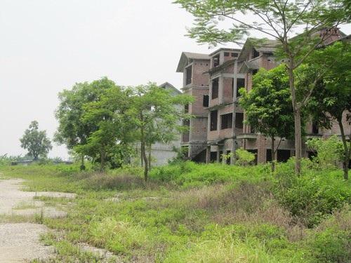 Khung cảnh một góc khu biệt thự ở Bắc An Khánh