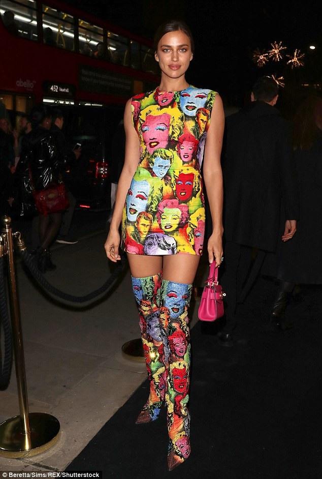 Irina Shayk xuất hiện rạng rỡ trong sự kiện khai trương cửa hiệu mới của Versace tại London ngày 5/12 vừa qua