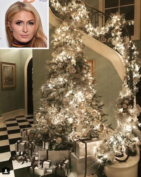 Paris Hilton chơi sang trang hoàng nhà cửa đón Giáng sinh